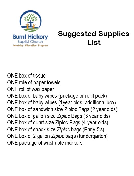 The 2018 2019 Suggested Supply List